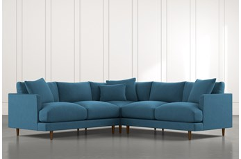 Adeline II Teal 3 Piece Sectional