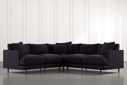 Adeline II Black 3 Piece Sectional