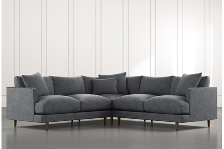 Adeline II Dark Grey 3 Piece Sectional
