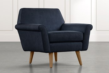 Patterson III Navy Blue Accent Chair