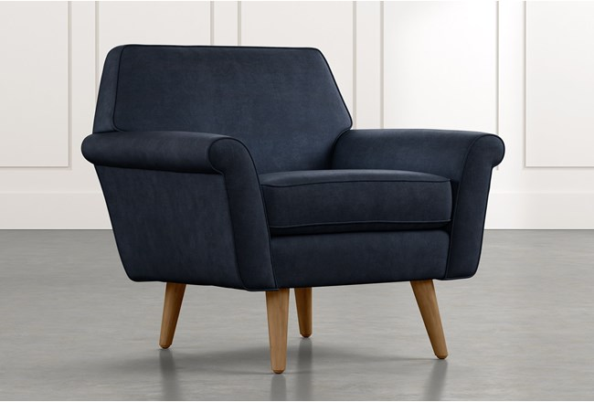 Patterson III Navy Blue Accent Chair - 360