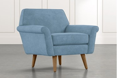 Patterson III Light Blue Accent Chair