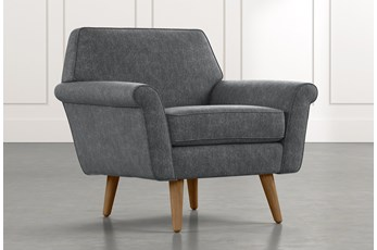 Patterson III Dark Grey Accent Chair