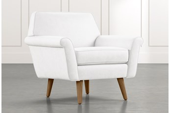 Patterson III White Accent Chair
