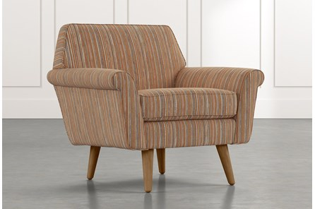 Patterson III Orange Striped Accent Chair