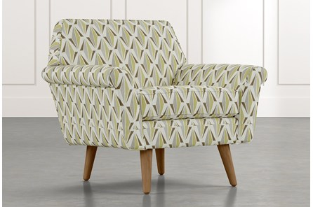 Patterson III Green Geometric Accent Chair
