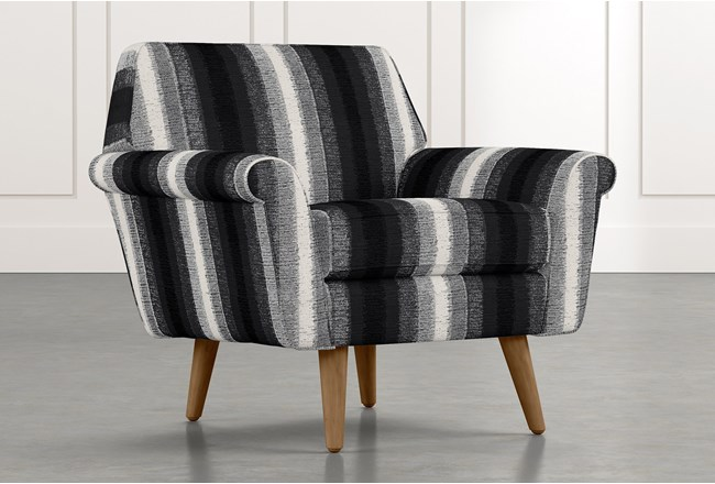 Patterson III Black Striped Accent Chair - 360