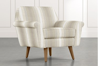 Patterson III Natural Striped Accent Chair