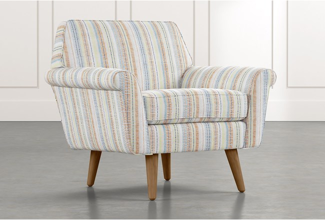 Patterson III Multi Striped Accent Chair - 360