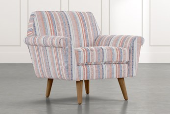 Patterson III Red Striped Accent Chair