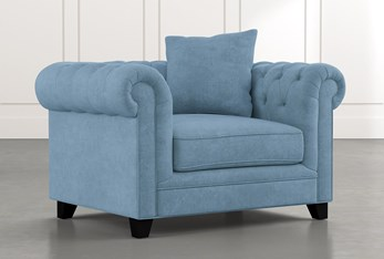 Patterson III Light Blue Arm Chair
