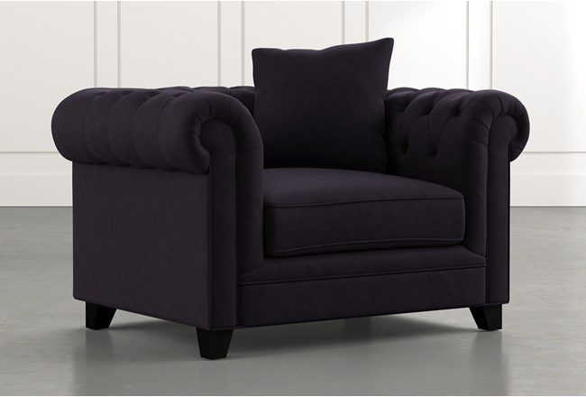 Patterson III Black Arm Chair - 360