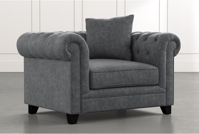 Patterson III Dark Grey Arm Chair - 360