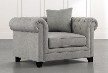 Patterson III Light Grey Arm Chair