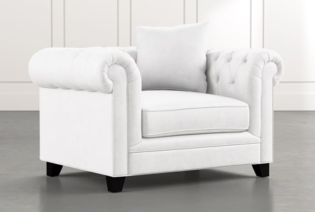 Patterson III White Arm Chair