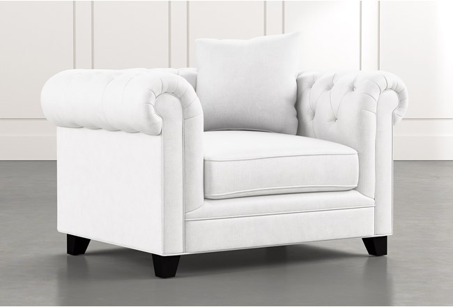 Patterson III White Arm Chair - 360
