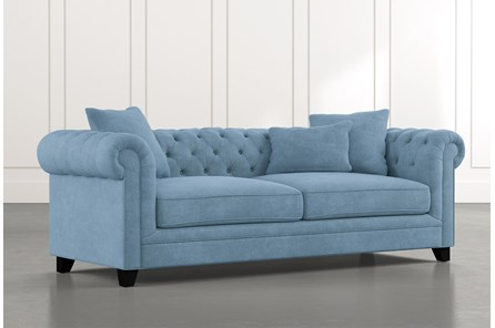 Patterson III Light Blue Sofa