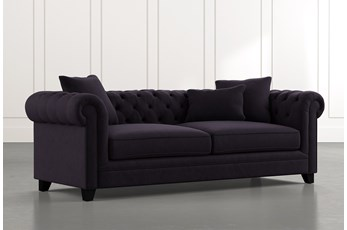 "Patterson III 94"" Black Sofa"