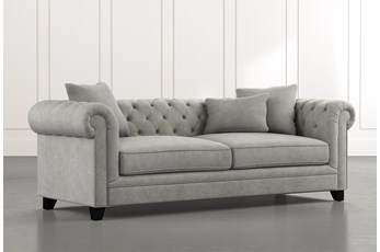 "Patterson III 94"" Light Grey Sofa"