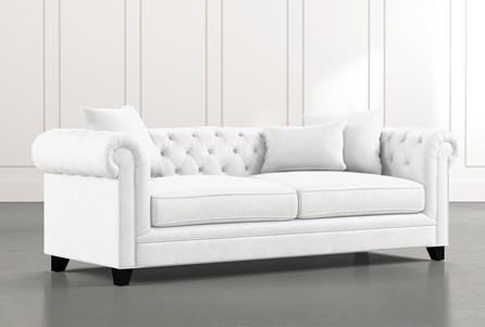 Patterson III White Sofa