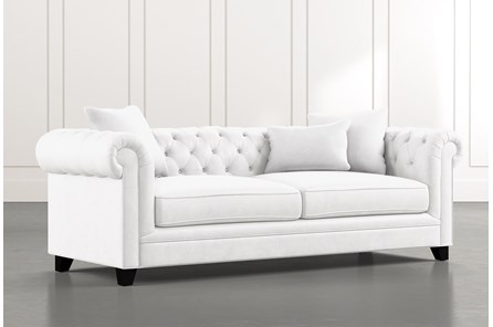 Patterson III White Sofa