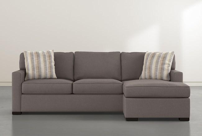 "Taren II 97"" Reversible Sofa Chaise With Storage Ottoman - 360"