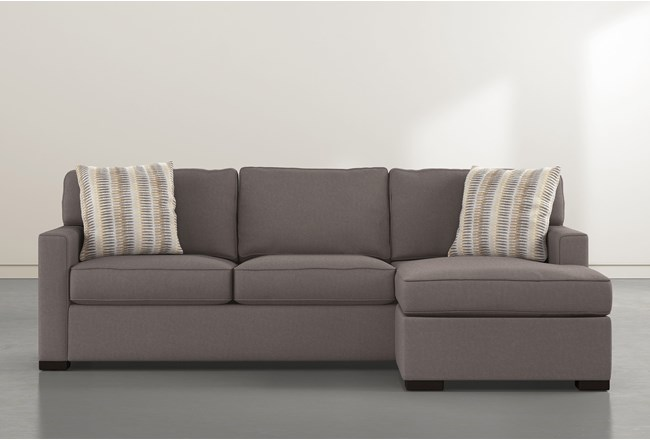 Taren II Reversible Sofa Chaise With Storage Ottoman - 360