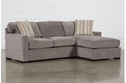 "Taren II Reversible 97"" Sofa/Chaise Sleeper With Storage Ottoman"