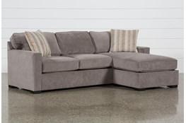 "Taren II Reversible 97"" Sofa/Chaise Sleeper With Storage Ottoman"