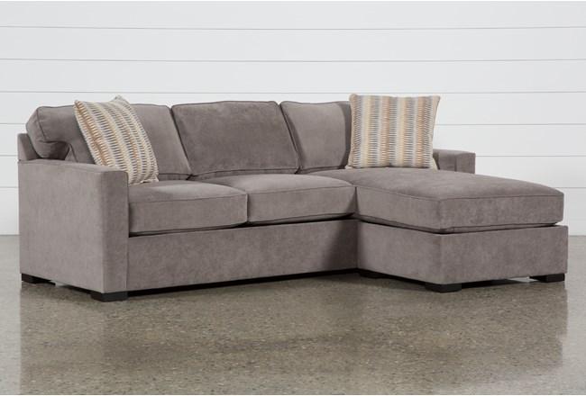 "Taren II Reversible 97"" Sofa/Chaise Sleeper With Storage Ottoman - 360"