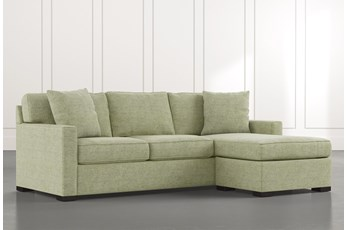Taren II Green Reversible Sofa/Chaise Sleeper W/Storage Ottoman