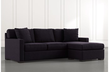 Taren II Black Reversible Sofa/Chaise Sleeper W/Storage Ottoman