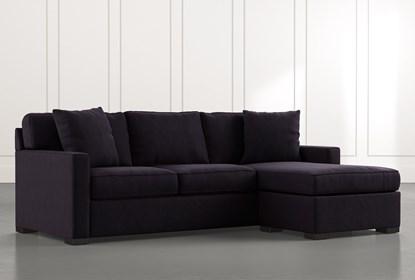 Taren Ii Black Reversible Sofa Chaise Sleeper W Storage Ottoman