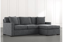 Taren II Dark Grey Reversible Sofa/Chaise Sleeper W/Storage Ottoman