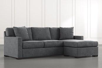 Taren II Dark Grey Reversible Sofa/Chaise Sleeper W/Storage Ottoman