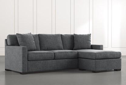 Taren Ii Dark Grey Reversible Sofa Chaise Sleeper W Storage Ottoman
