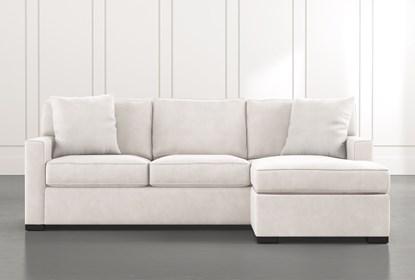 Taren Ii White Reversible Sofa Chaise Sleeper W Storage Ottoman