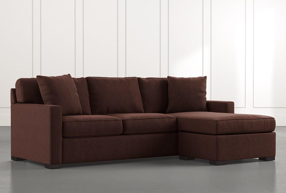 Taren Ii Brown Reversible Sofa Chaise, Brown Fabric Sleeper Sofa