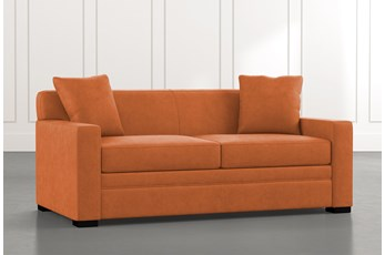 Ethan III Orange Memory Foam Full Sleeper