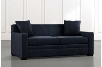Ethan III Navy Blue Memory Foam Full Sleeper