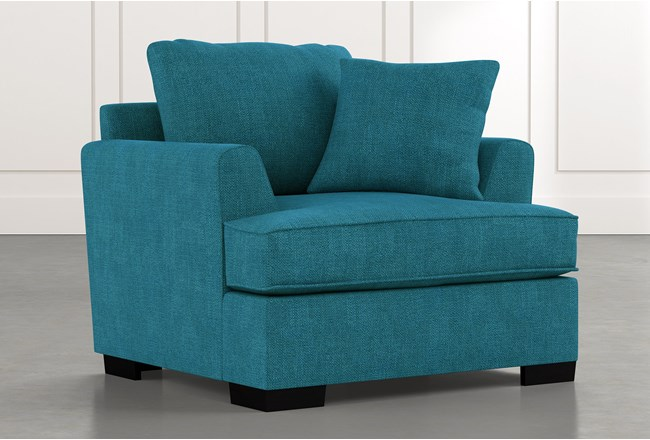 Burke Teal Chair - 360