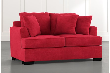 Burke Red Loveseat