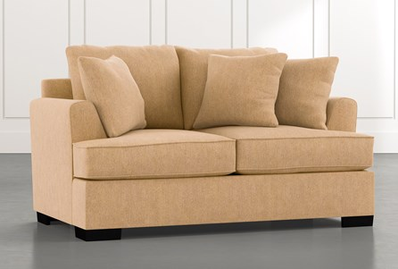 Burke Yellow Loveseat