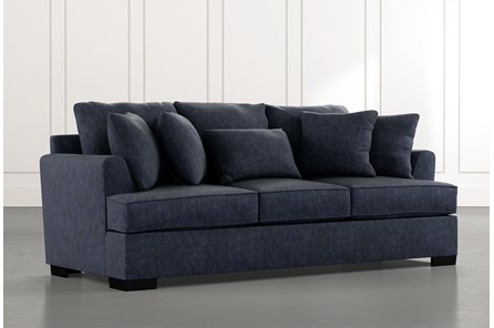 Burke Navy Blue Sofa