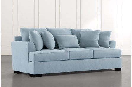 Burke Light Blue Sofa