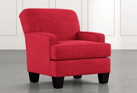 Burke Red Accent Chair