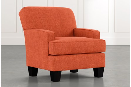Burke Orange Accent Chair