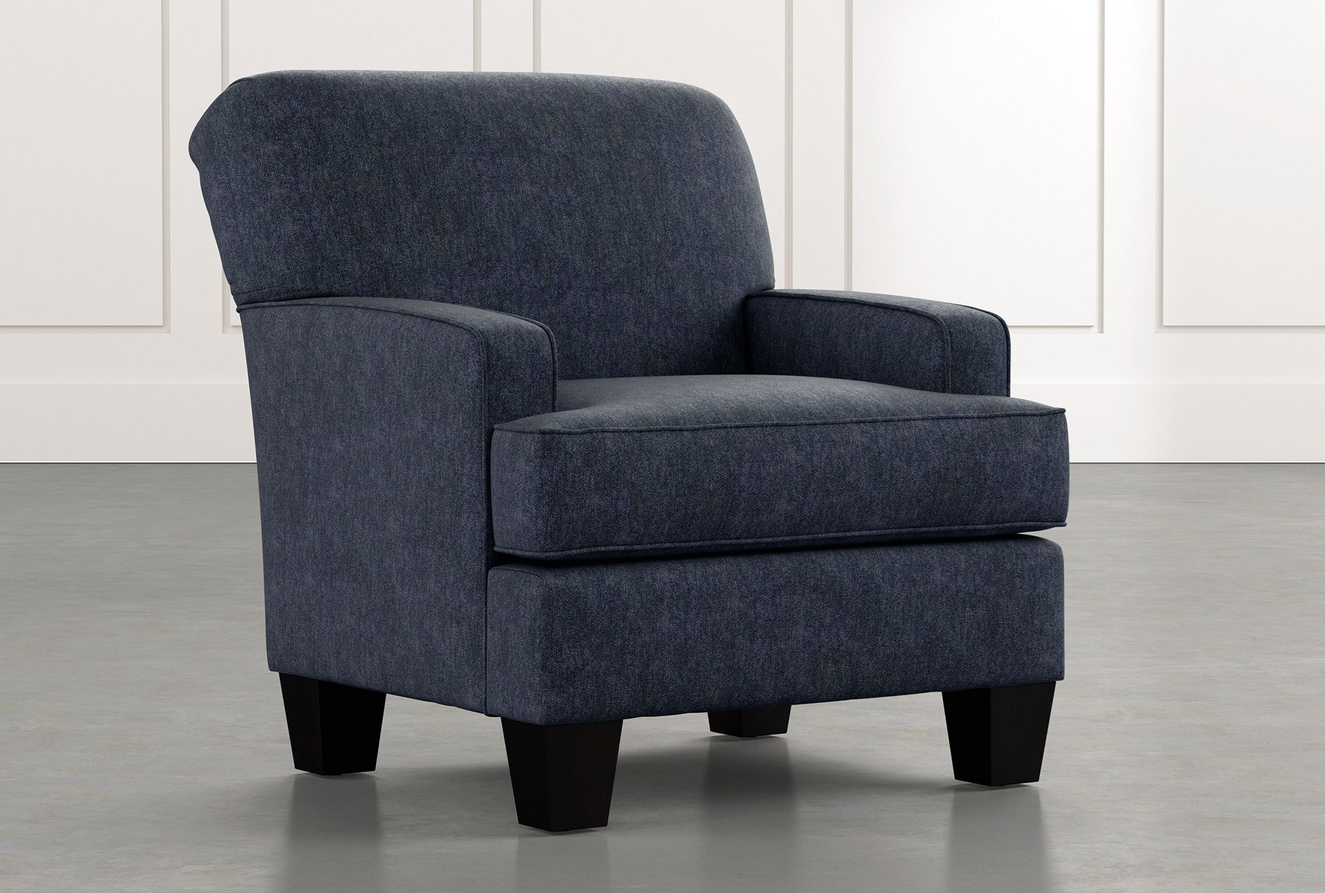 Burke Navy Blue Accent Chair Living Spaces