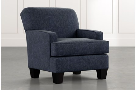 Burke Navy Blue Accent Chair