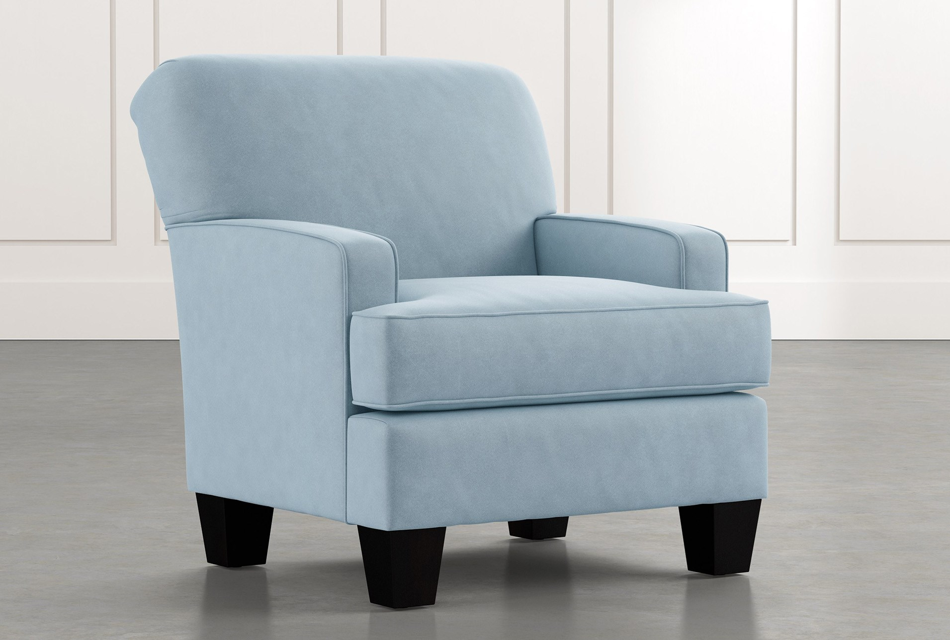 Burke Light Blue Accent Chair Living Spaces